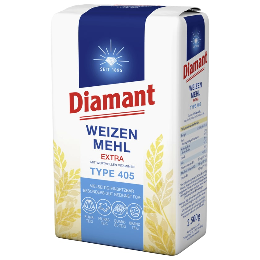 Diamant Weizenmehl extra Type 405 2,5kg
