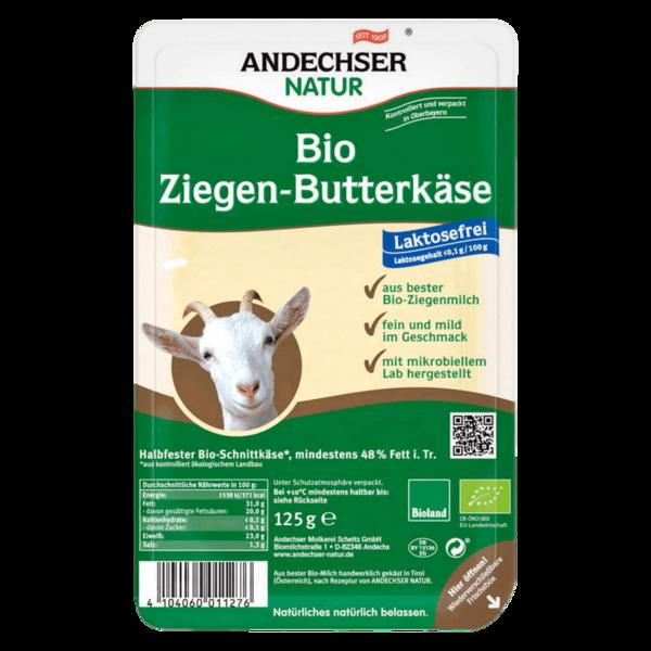 Andechser Natur Bio-Ziegen-Butterkäse in Scheiben 125g