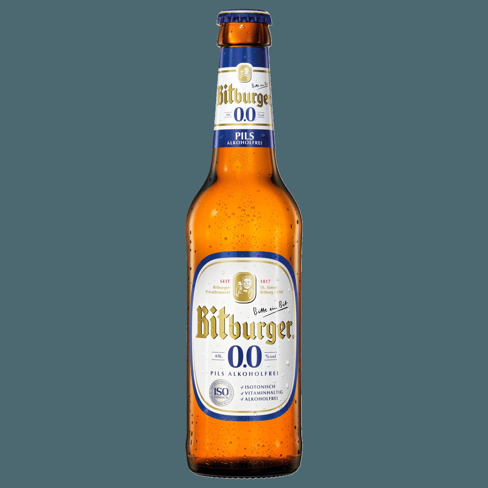 Bitburger 0,0% Alkoholfrei 0,33l