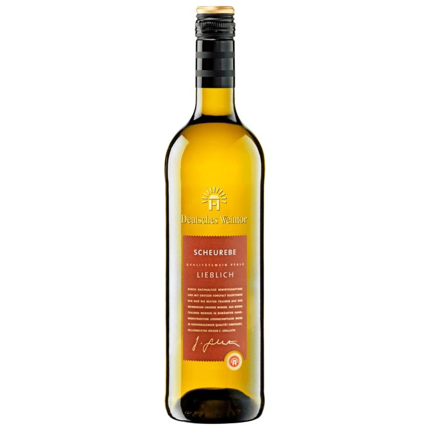 Deutsches Weintor Weißwein Scheurebe lieblich 0,75l