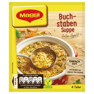 Maggi Guten Appetit Buchstabensuppe 100g