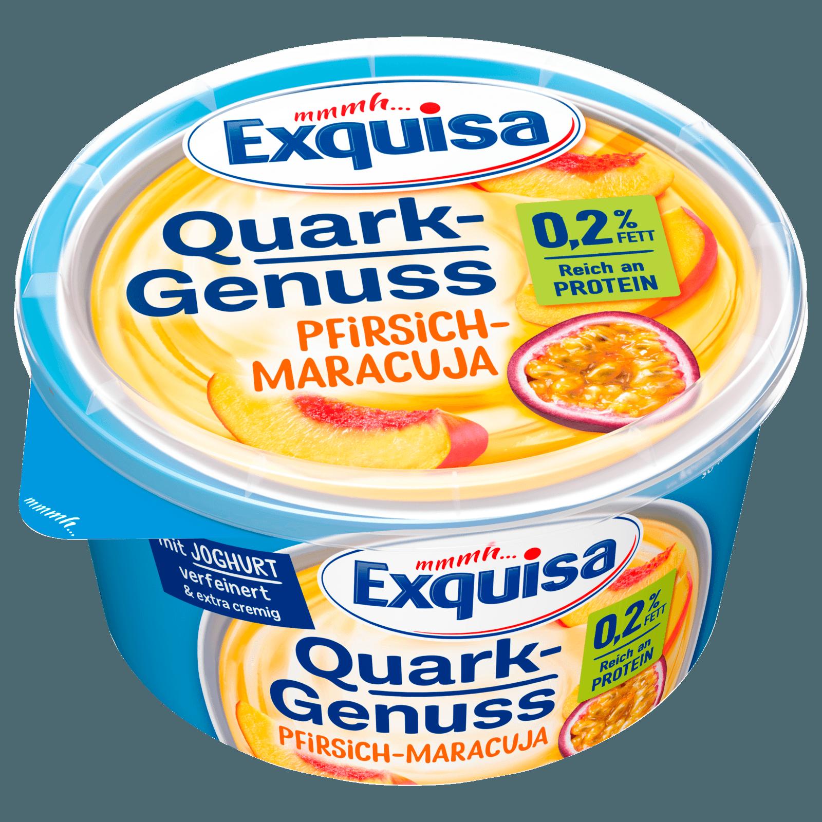 Exquisa QuarkGenuss Pfirsich & Maracuja 0,2% 500g