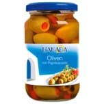Liakada Grüne Oliven mit Paprikapaste 200g
