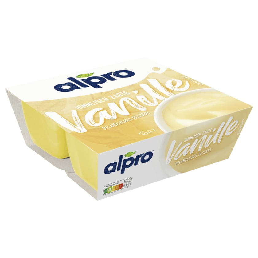 Alpro Soja-Dessert Feine Vanille vegan 4x125g