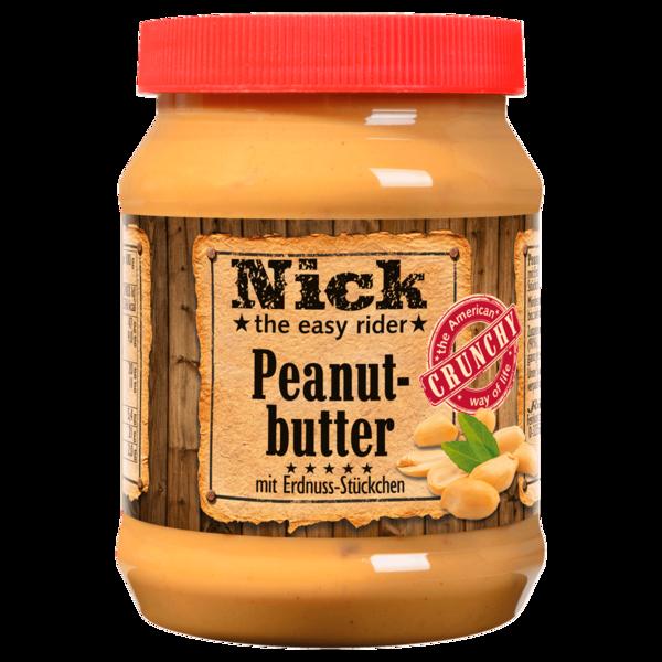 Nick Peanut-butter mit Erdnuss-Stückchen 350g