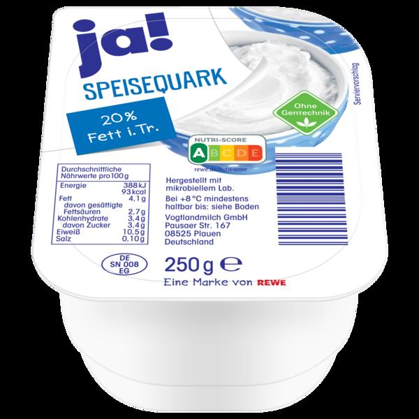 ja! Speisequark 20% Fett i. Tr. 250g