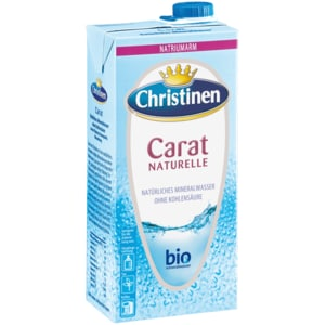 Christinen Mineralwasser Carat Naturelle 1l