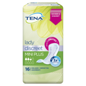 Tena Lady Discreet Mini Plus Einlagen für leichte Blasenschwäche 16 Stück