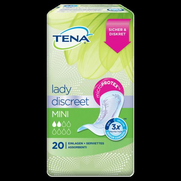 Tena Lady Discreet Mini Einlagen für leichte Blasenschwäche 20 Stück
