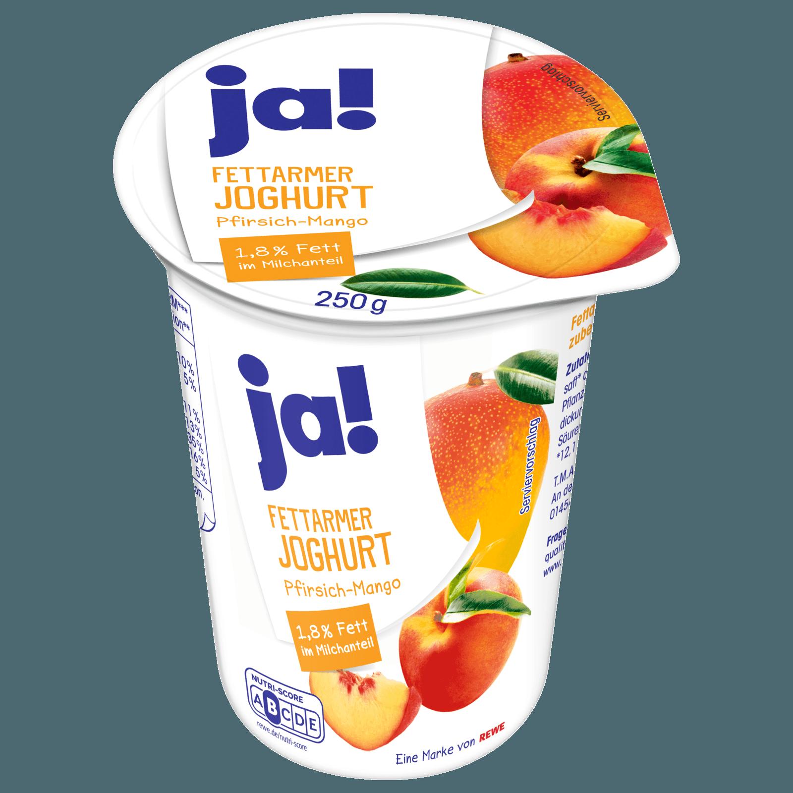 ja! Fettarmer Joghurt mild Pfirsich-Mango 250g