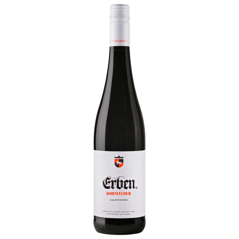 Erben Rotwein Dornfelder QbA halbtrocken 0,75l
