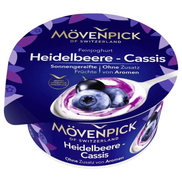 Mövenpick Feinjoghurt Heidelbeere-Cassis 150g