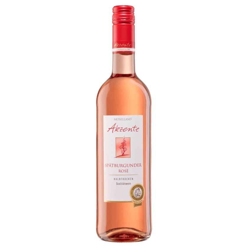 Moselland Rosé Akzente Spätburgunder halbtrocken 0,7l