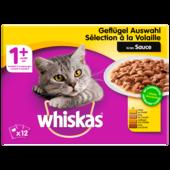 Whiskas Katzenfutter 1+ Geflügel in Sauce 12x100g