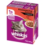 Whiskas 1+ Klassische Auswahl in Sauce 12x100g