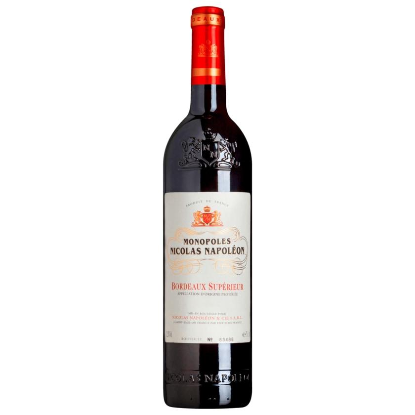 Monopoles Nicolas Napoléon Rotwein Superieu Bordeaux trocken 0,75l