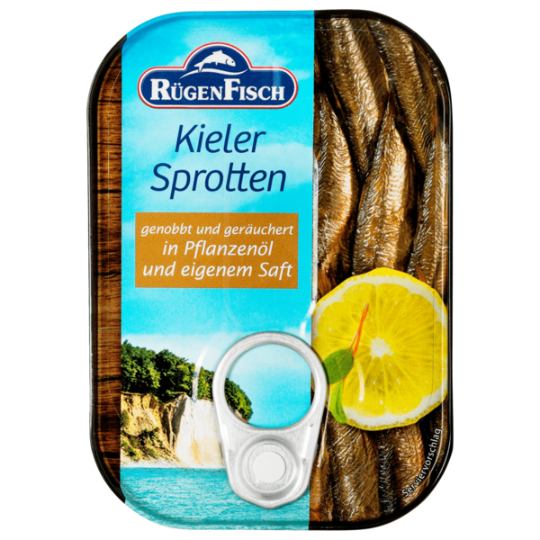 Rügenfisch Kieler Sprotten geräuchert in Pflanzenöl 110g