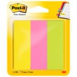 Post-it Haftstreifen neon 3x100 Blatt